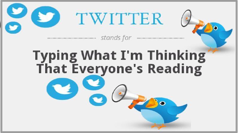 ઘણા લોકો તેને ચકલીની ચીં-ચીં  સાથે જોડે છે. પરંતુ તેનો અર્થ ટ્વિટરના સંપૂર્ણ સ્વરૂપમાં છુપાયેલ છે. જુદા જુદા અહેવાલોમાં અલગ અલગ ફૂલ ફોર્મ આપવામાં આવ્યા છે. www.abbreviations.com અનુસાર, ટ્વિટરનું પૂર્ણ સ્વરૂપ છે (Full form of Twitter)- Typing What I'm Thinking To Everyone Reading. તે છે, એટ્લે કે મારા મગજમાં જે ચાલી રહ્યું છે તે ટાઇપ કરવું, જેથી દરેક તેને વાંચી શકે, તે જાણી શકે. જો કે, આ વિશે બહુ નક્કર પુરાવા નથી.