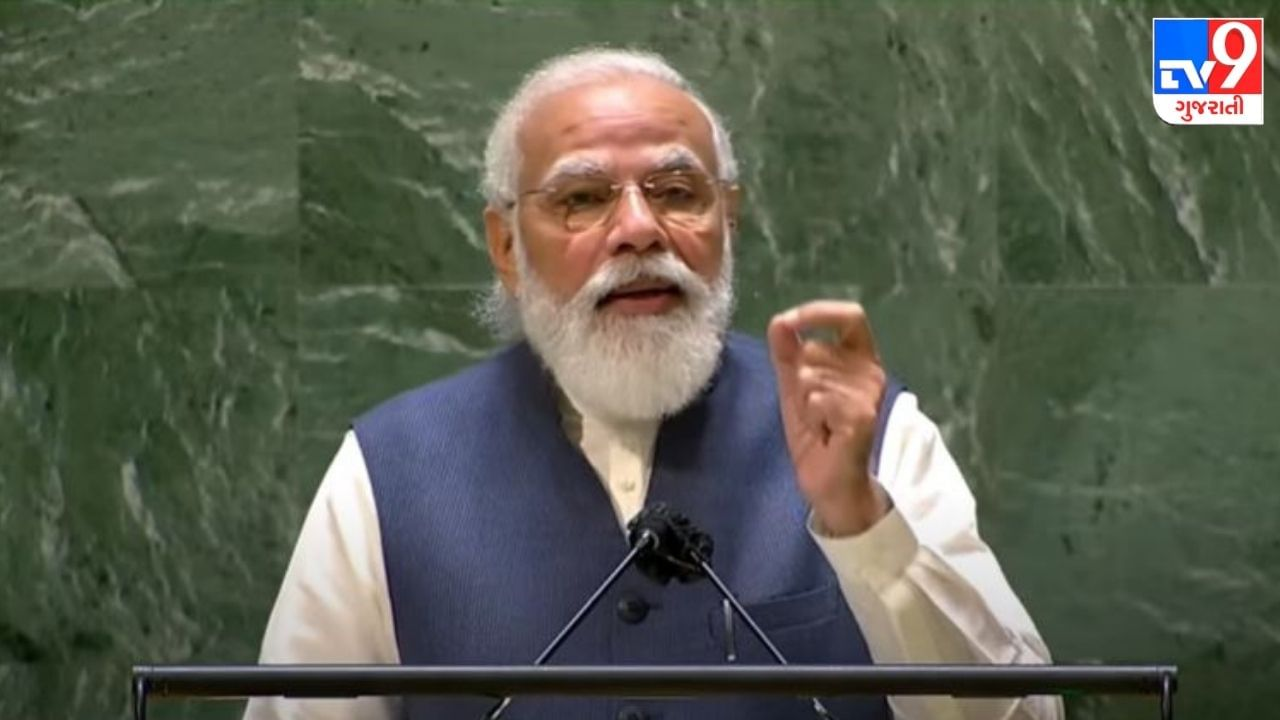 pm narendra modi addresses united nations general assembly in usa new york city speech