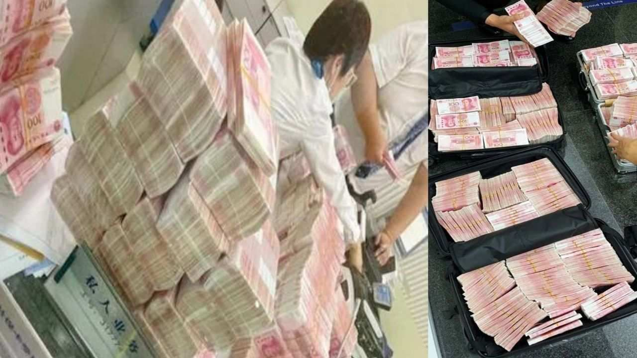 Chinese Millionaire Withdraws 5 crore And Makes Bank Staff Count It Out